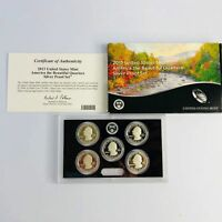 2013 AMERICA THE BEAUTIFUL SILVER QUARTERS PROOF SET
