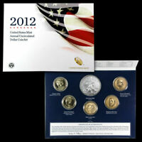 2012 U.S. MINT ANNUAL DOLLAR COIN SET W SILVER EAGLE