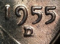 1955 D/D/D LINCOLN WHEAT CENT RPM 003 FS 502 B/U