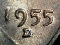 1955 D/D/D LINCOLN WHEAT CENT RPM 003 FS 503   UNC
