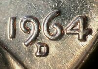 1964 D/D/D/D LINCOLN MEMORIAL CENT RPM 016 B/U