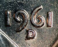 1961 D/D LINCOLN MEMORIAL CENT RPM 047   UNC STAGE B