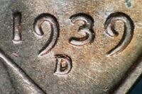 1939 D/D LINCOLN WHEAT CENT RPM 001   HIGH GRADE B/U