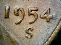 1954 S/S LINCOLN WHEAT CENT RPM 004   STAGE I    BOLD REPUNCH