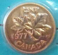 UNCIRCULATED 1977 CANADIAN 1 CENT