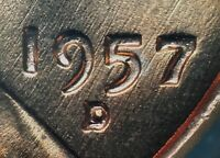 1957 D/D LINCOLN WHEAT CENT RPM 006   HIGH GRADE  VARIETY