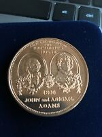 BRONZE PRESIDENT'S WHITE HOUSE JOHN ADAMS AND ABIGAIL ADAMS MEDALS