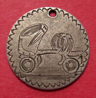 LOVE TOKEN ON 1876 DIME    PICTORIAL ROLLER SKATE   NICE GRADE COIN