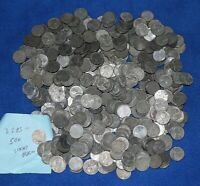 LOT OF 500 1943 LINCOLN WHEAT PENNY CENT COINS   STEEL WAR CENTS