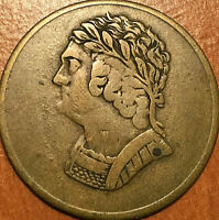 1820 LOWER CANADA BUST AND HARP HALFPENNY TOKEN   EXCELLENT