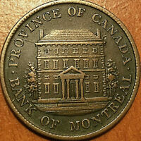 1842 LOWER CANADA BANK OF MONTREAL HALFPENNY TOKEN   EXCELLE