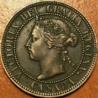 1896 CANADA LARGE CENT 1 CENT PENNY   EXCELLENT EXAMPLE