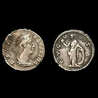 VERY  ANCIENT ROMAN UNRESEARCHED SILVER DENARIUS COIN  1ST C