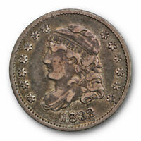 1832 CAPPED BUST HALF DIME EXTRA FINE EXTRA FINE  FILLED 8 US TYPE COIN 2193