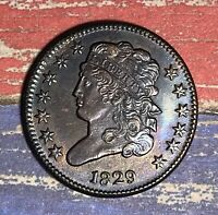 1829 1/2 CENT. SUPER  HIGHER GRADE COLLECTOR COIN FOR YOUR COLLECTION OR SET