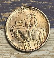 1925 STONE MT. COMMEMORATIVE SILVER HALF DOLLAR UNC. COLLECTOR COIN FOR YOUR SET