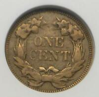 1857 ANACS EF 40 FLYING EAGLE 1 CENT COIN, EXTRA FINE 40 FLYING EAGLE CENT