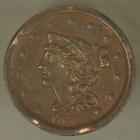 1850 HALF CENT COPPER HIGH GRADE RIM ISSUES              FREE U.S. SHIPPING