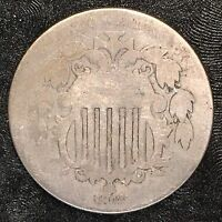 1872 SHIELD NICKEL - HIGH QUALITY SCANS D091