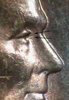 1955 S LINCOLN WHEAT CENT DOUBLED DIE DDO 001   ACTUAL TRIPLED DIE EYELIDS