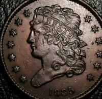 1835 HALF CENT, CLASSIC HEAD, CHOICE  EARLY COPPER,  STRIKE