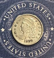 1834 CAPPED BUST SILVER HALF DIME. COLLECTOR COIN FOR COLLECTION.