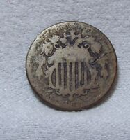 1872 SHIELD NICKEL AG 5-CENTS