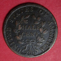 1804 DRAPED BUST HALF CENT WITH CUD   CU 1/2C 1804 02BR AND  03BR