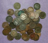 1880 1908 INDIAN HEAD CENT CULL ROLL   50 MIXED DATES