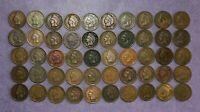 INDIAN HEAD PENNY ROLL  50 COINS  1880 1908 COLLECTION