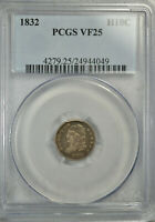 1832 CAPPED BUST HALF DIME, PCGS VF25