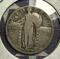 1929-D STANDING LIBERTY SILVER QUARTER.  COLLECTOR COIN FOR YOUR COLLECTION