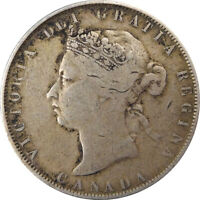 1872 H CANADA SILVER 50 CENTS
