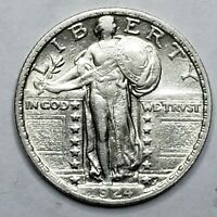 1924 STANDING LIBERTY SILVER QUARTER COIN LOT 519-76