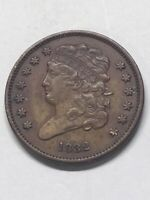 1832 CLASSIC HEAD HALF CENT; ONLY 51K MINTED