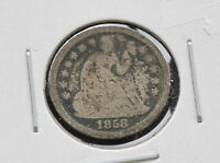 1858-P LIBERTY SEATED 90 SILVER DIME U.S. COIN D2670