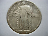 1921 VF KEY DATE STANDING LIBERTY SILVER QUARTER DOLLAR -  L108