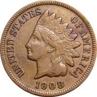 1908 S INDIAN CENT  KEY DATE  VERY FINE