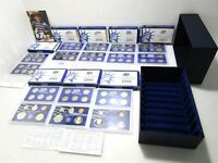 UNITED STATES PROOF SETS 1999 2008 CURRENCY W COINS IN BOX M