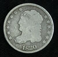 1830 CAPPED BUST SILVER HALF DIME   CIRCULATED  GREAT SET FILLER