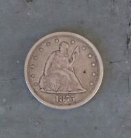 1875 S SEATED TWENTY CENT PIECE NICE GRADE COMBINED SHIPPING