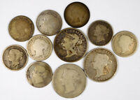 CANADA QUEEN VICTORIA STERLING SILVER COIN LOT   11 COINS