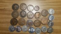 LOT OF 24 VINTAGE COINS FROM CANADA NEWFOUNDLAND & PEI .