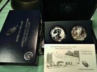 2013 US MINT AMERICAN EAGLE WEST POINT SILVER SET 2 COINS