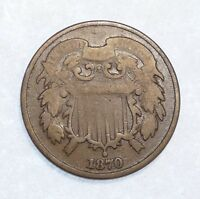 1870 TWO-CENT PIECE GOOD 2-CENTS