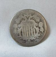 1870 SHIELD NICKEL AG 5-CENTS