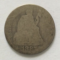 1887-P SEATED LIBERTY DIME SILVER U.S. COIN A4370