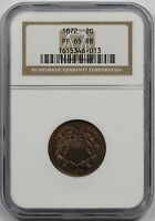 1872 2C NGC PROOF PF 65 RB TWO-CENT PIECE