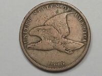 1858 SL US FLYING EAGLE PENNY SMALL LETTER.  14
