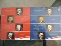 2007 P & D US MINT PRESIDENTIAL DOLLAR UNCIRCULATED 4-COIN SETS 8 COINS TOTAL